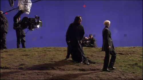 Severus Snape wallpaper probably containing a lippizan titled Behind the scenes of Harry Potter - Alan Rickman