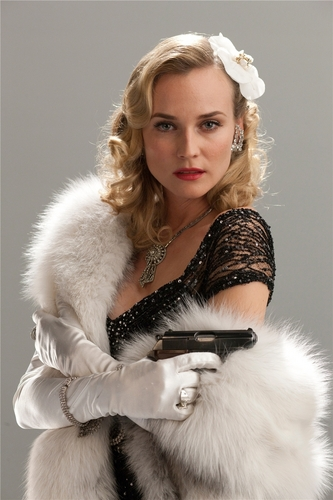 Inglourious Basterds wolpeyper containing a balahibo coat, a mink, and a sable amerikana titled Bridget von Hammersmark