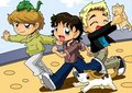 Cartoon Tom, Danny and Dougie