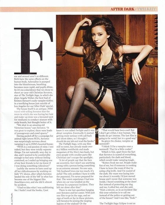 Christian Serratos for the FHM Magazine