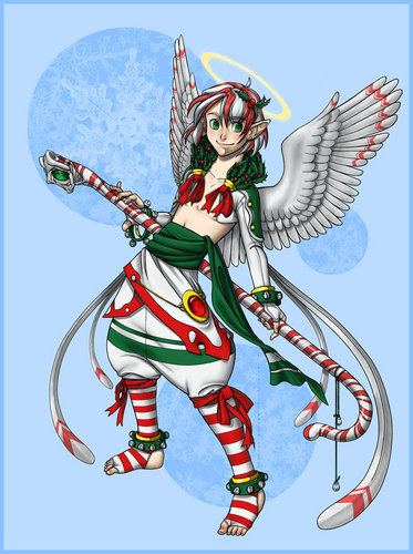 Krismas kertas dinding possibly with Anime entitled Krismas fairy
