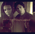 DE - damon-and-elena-and-ian-and-nina fan art