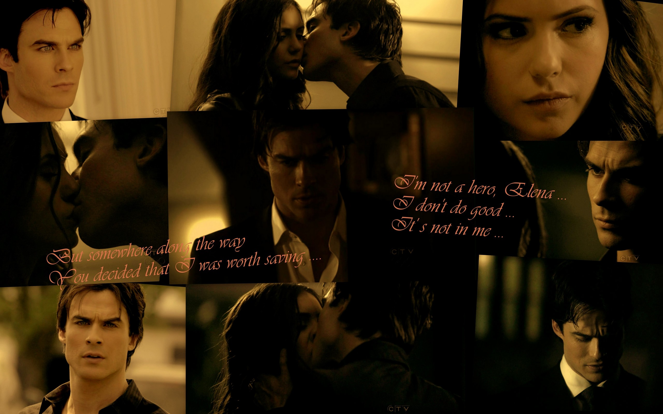 The vire diaries tv show damon and elena
