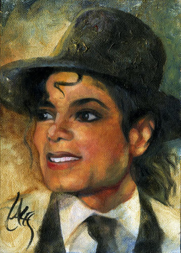 Michael Jackson kertas dinding with a fedora entitled Dan Lacey Art...Love It