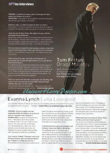 Deathly Hallows Premiere Magazine