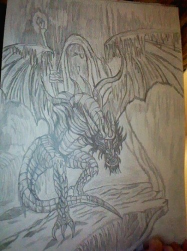 Dragon drawing *drew द्वारा me*