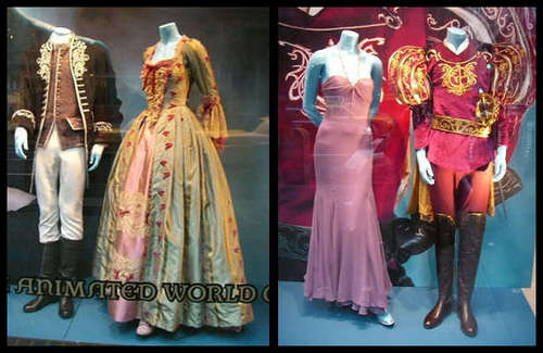 Enchanted costumes on display.