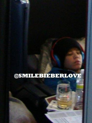 Exclusive pic: Justin was very tired