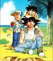 Goku, Gohan and Krillin
