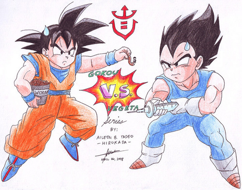 Dragon Ball Z wallpaper containing anime entitled Goku vs. Vegeta-the battle that was meant to be!!!
