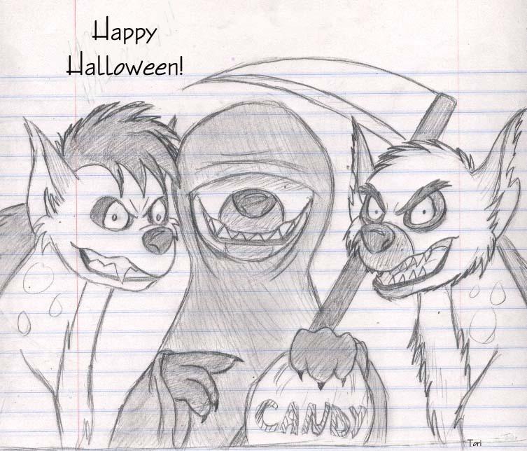 Happy Hyena Halloween!
