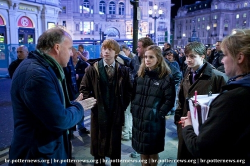 Harry Potter And The Deathly Hallows <3 Behind the scenes