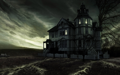 Halloween wallpaper entitled Haunted House