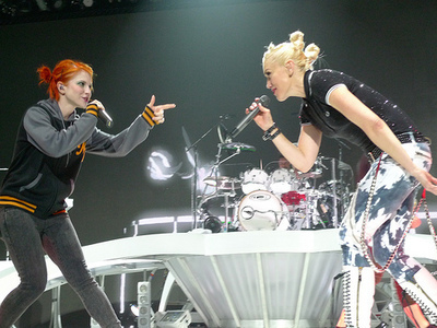 Hayley Williams and Gwen Stefani
