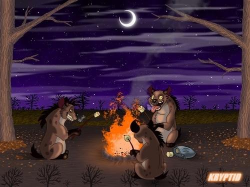 Hyenas from Lion King wallpaper called Hyenas Bonfire