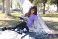 In the park with Presley,taking Fotos together(September 23,2010)