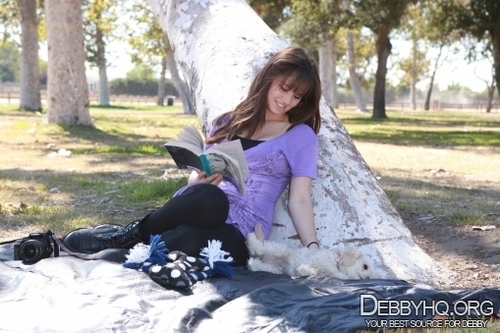 Debby Ryan karatasi la kupamba ukuta probably containing an igloo, a street, and a tepee called In the park with Presley,taking picha together(September 23,2010)