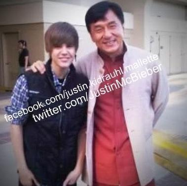 Justin Bieber wallpaper probably with a portrait called Justin Bieber&Jackie Chan
