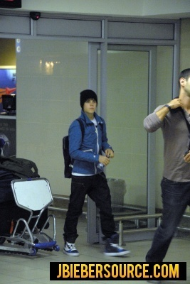 Justin arriving at South Africa