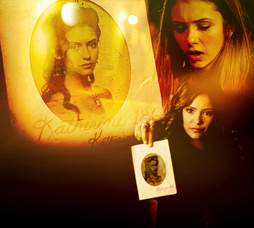 Katherine Pierce and Elena Gilbert wallpaper titled Katherine and Elena