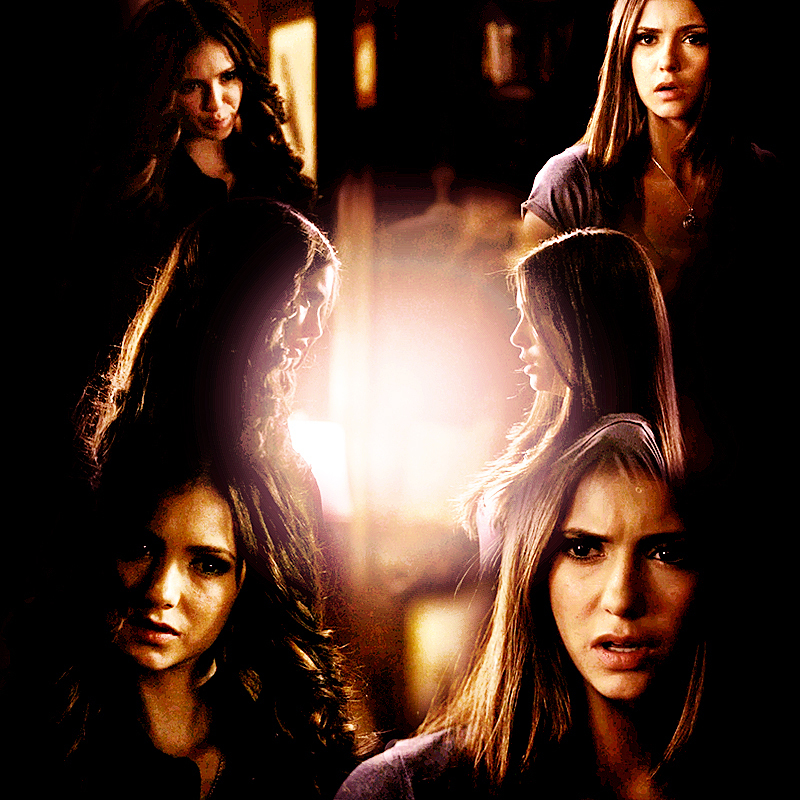 the vampire diaries katherine and elena first meet