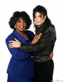 MJ with Oprah - michael-jackson photo