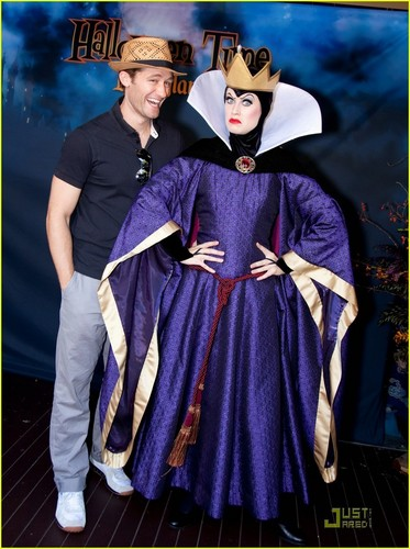 Matthew Morrison @ Disneyland's 'Halloween Time' celebration