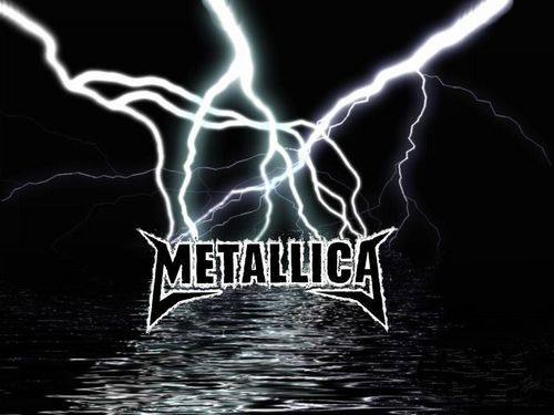 Metallica karatasi la kupamba ukuta called Metallica Ride The Lightning