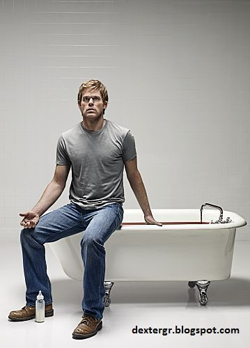 NEW - Dexter Season 5 Promotional Photo: Bathtub