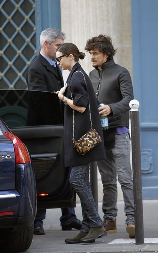 Orlando Bloom and Miranda Kerr in Paris (September 29-30)
