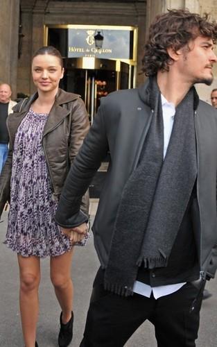 Orlando Bloom and Miranda Kerr in Paris (September 29-30)