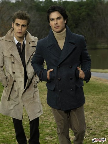 Paul Wesley wallpaper probably with a business suit entitled Paul and Ian New Photoshoot