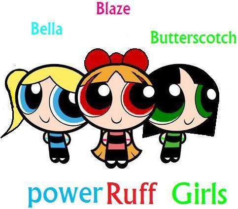 Powerpuff Girls wallpaper containing anime called Powerpuff girls and Rowdyruff boys Kids