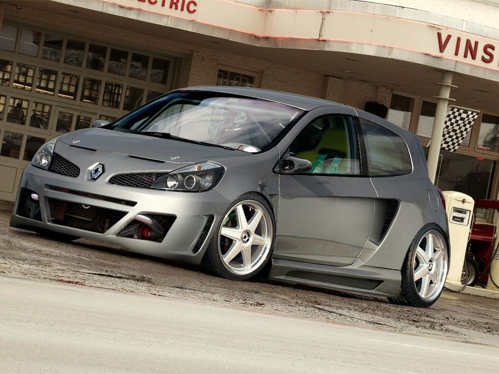 renault clio v6 tuning iliketuning. Black Bedroom Furniture Sets. Home Design Ideas