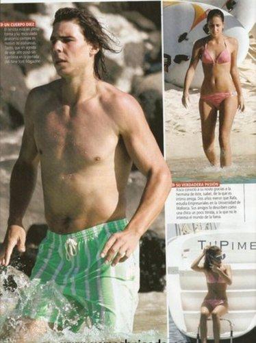 Rafa In green bikini