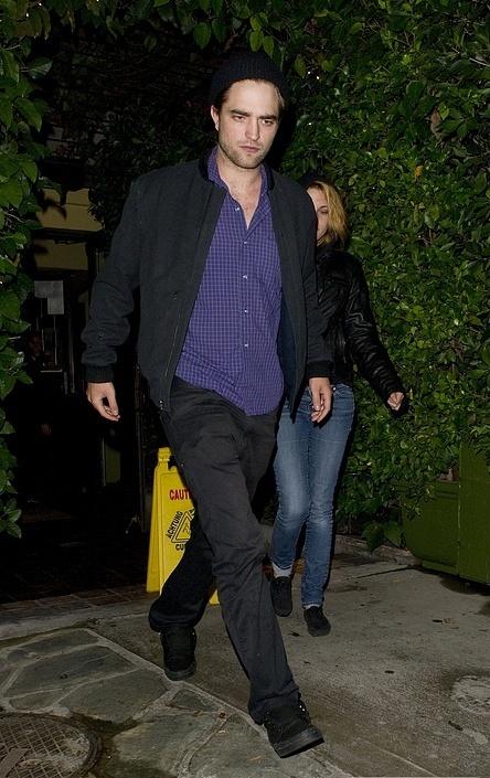 "Robsten after a restaurant ""Ago"" in West Hollywood"