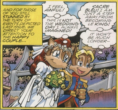 Sally being fooled into marrying Patch