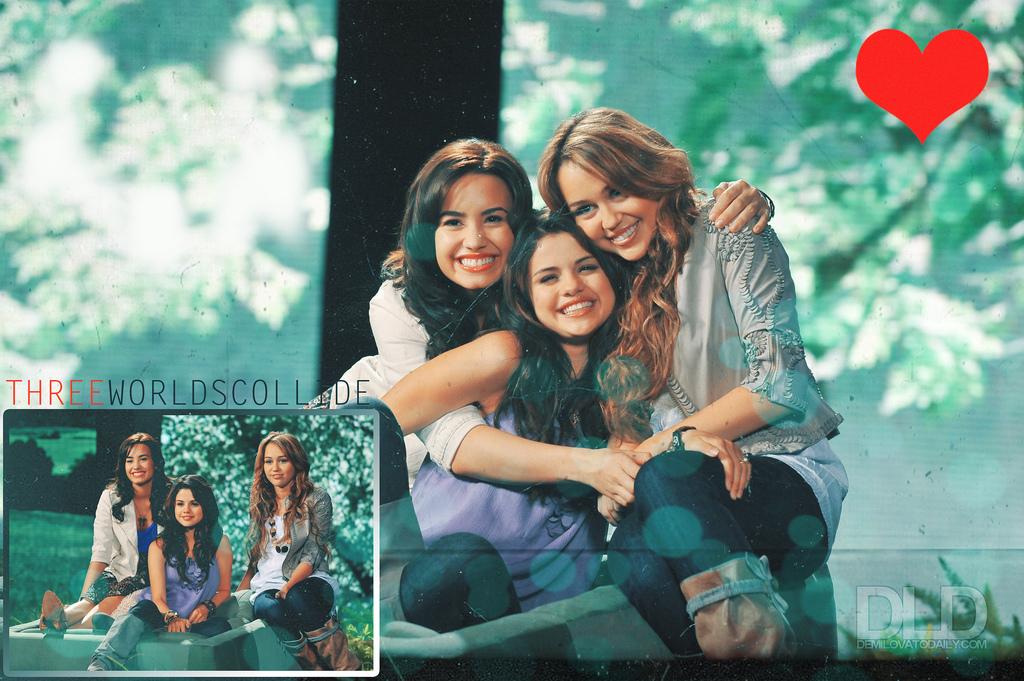 Selena,Demi,Miley