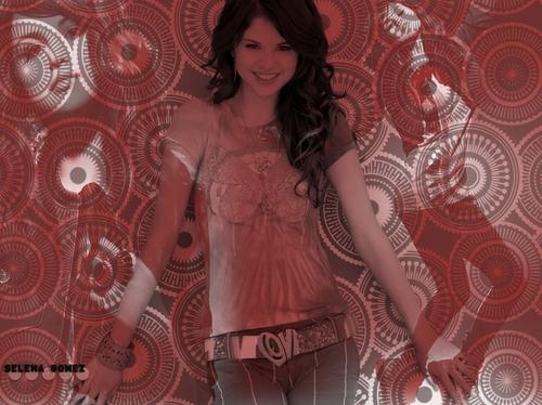 Selena red & white