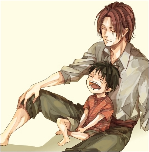 Shanks & Luffy - one-piece Photo