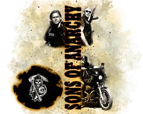 Sons Of Anarchy wallpaper possibly with a sign called Sons of Anarchy