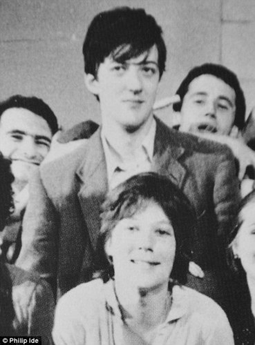 Stephen Fry with Caroline Oulton