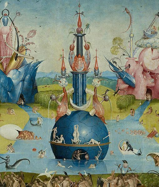 The garden of earthly delights detail hieronymus bosch for Bosco el jardin de las delicias