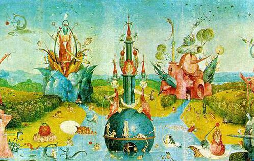 Fine Art Hintergrund containing Anime entitled The Garden of Earthly Delights - Hieronymus Bosch
