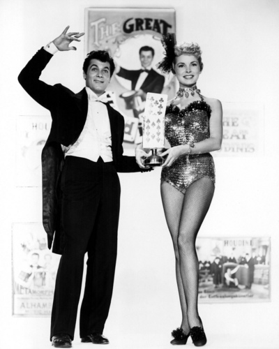 "Classic Movies wallpaper possibly containing a maillot and a leotard entitled Tony Curtis & Janet Leight in ""Houdini"""