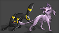 Umbreon and Espeon - umbreon-and-espeon photo