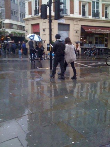 With Joe Jonas in Londres