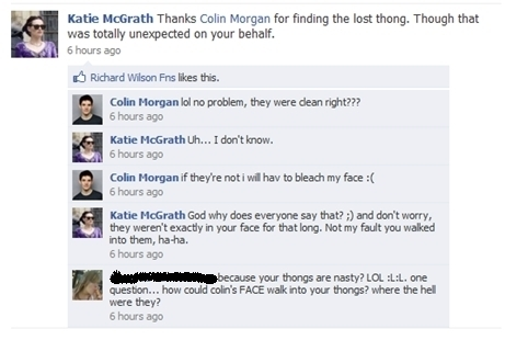 katie and colin facebook chat!