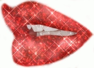 lips I painted pwetty