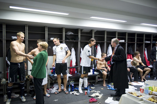 Thomas after the match (Germany - Turkey)